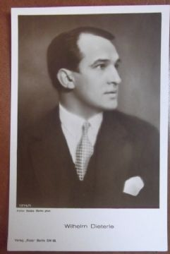 "Wilhelm Dieterle, German Actor 1893-1972, Vintage ""Ross"" Verlag Postcard c1927"